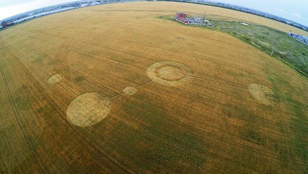 Загадочные круги на поле в Тольятти