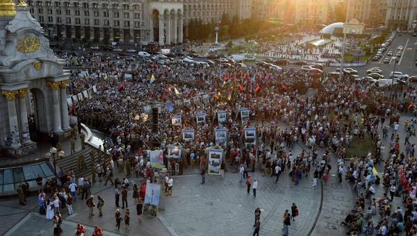 Участники Народного вече в Киеве. Архивное фото