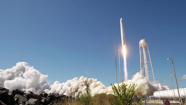 Старт американской ракеты-носителя Antares. Архивное фото