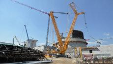 Строительство реакторного блока первой Белорусской атомной электростанции в Островце