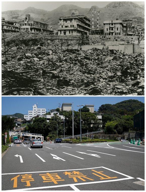 Хиросима после атомной бомбы