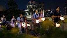 Церемония памяти жертв атомной бомбардировки в Хиросиме. Архивное фото