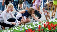 В Москве почтили память жертв атомных бомбардировок Хиросимы бумажными журавликами