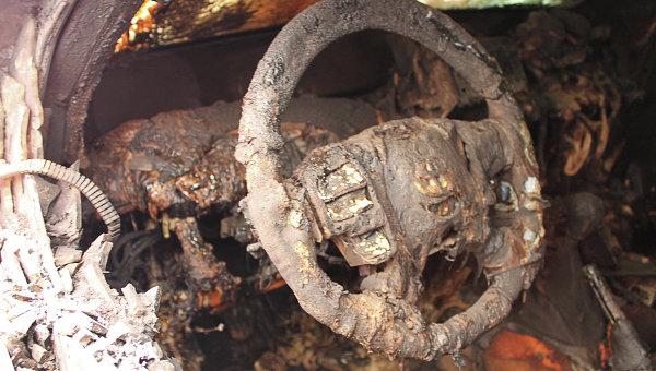 Шесть автомашин миссии ОБСЕ сгорели в Донецке