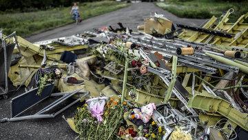 На месте крушения малайзийского самолета Boeing, выполнявшего рейс MH17 Амстердам — Куала-Лумпур. Архивное фото