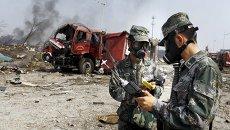 Последствия взрывов в Тяньцзине, Китай, 16 августа 2015