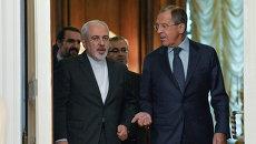 Переговоры глав МИД России и Ирана С.Лаврова и М.Зарифа. Архивное фото