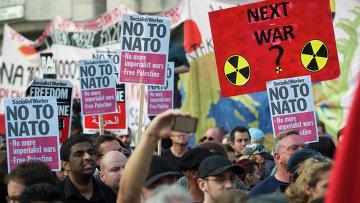 Протест против организации НАТО