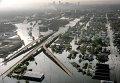 """Вид затопленного в результате урагана """"Катрина"""" Нового Орлеана, США"""