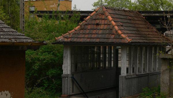 На месте концлагеря для военнопленных Шталаг-люфт III (Stalag Luft III) в Германии
