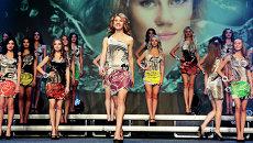 Участницы конкурса красоты Краса Донбасса, приуроченного к празднованию Дня города в Донецке