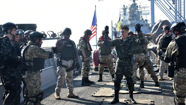 Украинско-американские военные учения Sea Breeze-2015 в Черном море. Архивное фото