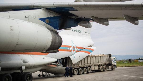 Самолет МЧС России c гуманитарным грузом. Архивное фото