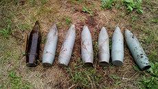 Боеприпасы, обнаруженные за сутки в ЛНР. Архивное фото
