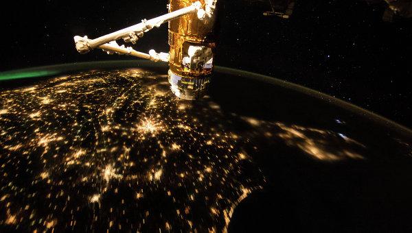 Изображение Земли, сделанное с борта МКС