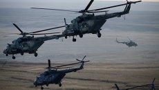 Вертолеты Военно-воздушных сил России. Архивное фото