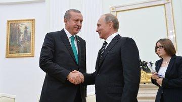 Президент РФ В.Путин встретился с президентом Турции Р.Эрдоганом
