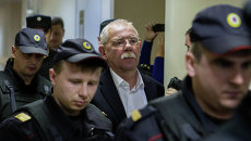 Экс-глава Карелии Андрей Нелидов в суде. Архивное фото