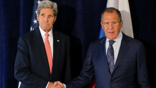 Встреча главы МИД РФ Сергея Лаврова и госсекретаря США Джона Керри