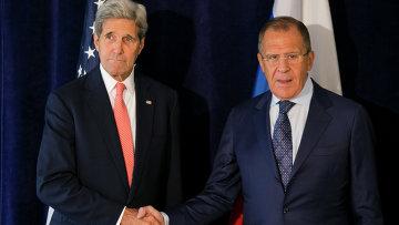 Встреча главы МИД РФ Сергея Лаврова и госсекретаря США Джона Керри. Архивное фото