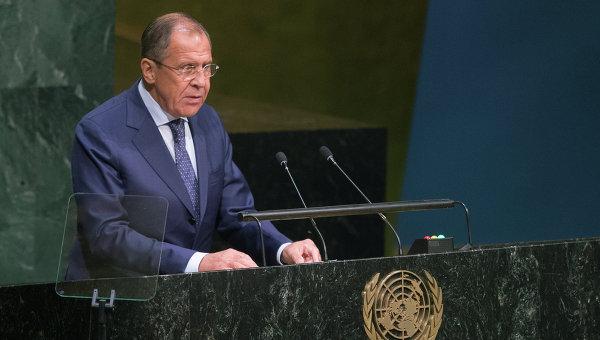 Выступление главы МИД РФ Сергея Лаврова в ООН. Архивное фото