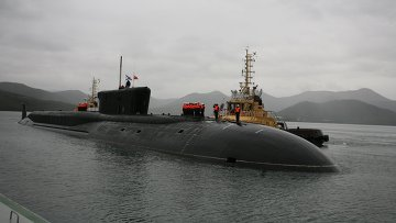 Экипаж атомного подводного ракетоносеца Александр Невский (проект 955, Борей). Архивное фото