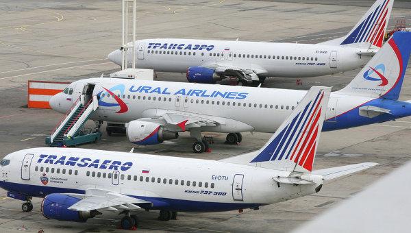 Самолеты компании Трансаэро. Архивное фото
