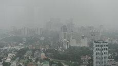 Дым от лесных пожаров в Индонезии в столице Малайзии Куала-Лумпуре