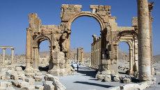 Триумфальная арка в городе Пальмира. Архивное фото