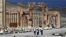 Триумфальная арка в Пальмире, Сирия. Архивное фото