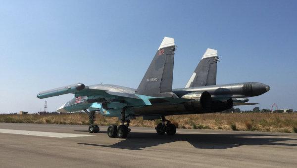 Российский самолет Су-34. Архивное фото