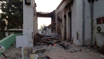 Госпиталь организации Врачи без границ в афганском городе Кундуз подвергшийся авиаудару. Архивное фото