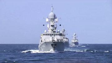 Корабли Каспийской флотилии. Архивное фото