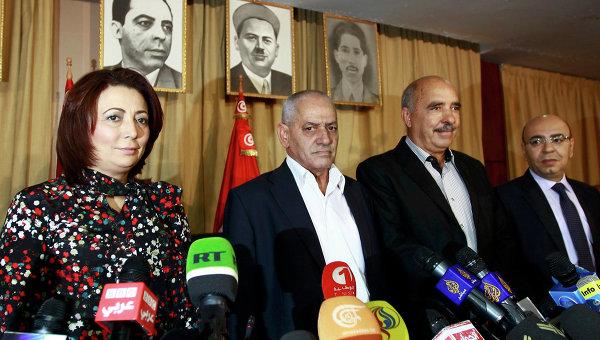 Представители политической организации Квартет национального диалога в Тунисе