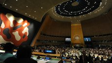 Зал Генассамблеи ООН