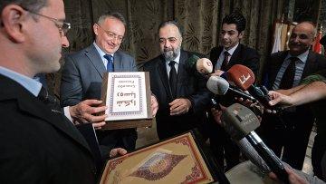 Встреча с представителями исламского духовенства в посольстве России в Сирии