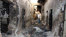 Разрушенная больница международной организации Врачи без границ в городе Кундузе на севере Афганистана. Архивное фото