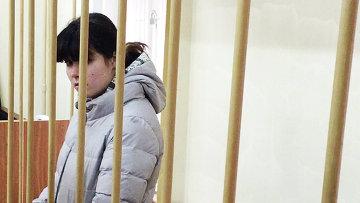 Студентка МГУ Варвара Караулова в зале заседаний Лефортовского суда Москвы. Архивное фото