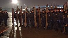 Спасатели с носилками встречали борт с телами жертв крушения А321 в Пулково