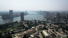 Вид на Каир, Египет. Египет. Архивное фото