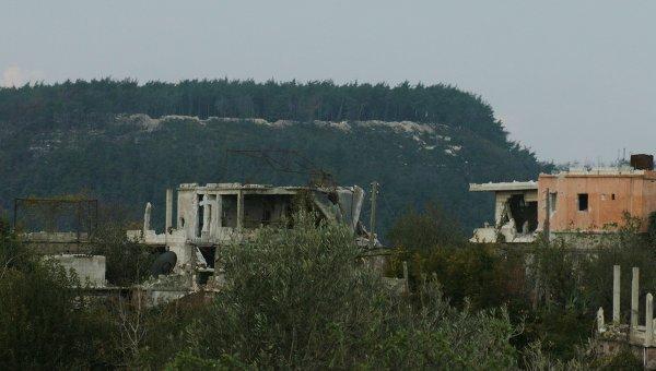 Поселок Гмам в провинции Латакия, освобожденный от боевиков сирийской армией при поддержке российской боевой авиации
