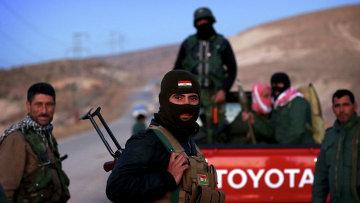 Курдские вооруженные силы в городе Синджар