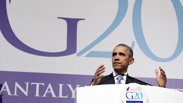 Президент США Барак Обама на саммите G20