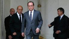 Президент Франции Франсуа Олланд в Елисейском дворце, Париж