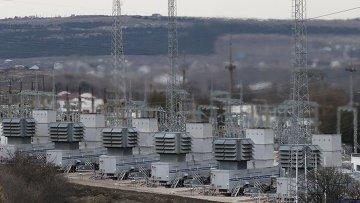 Мобильная электростанция в районе Симферополя, 22 ноября 2015
