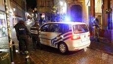 Сотрудники бельгийской полиции на улицах Брюсселя