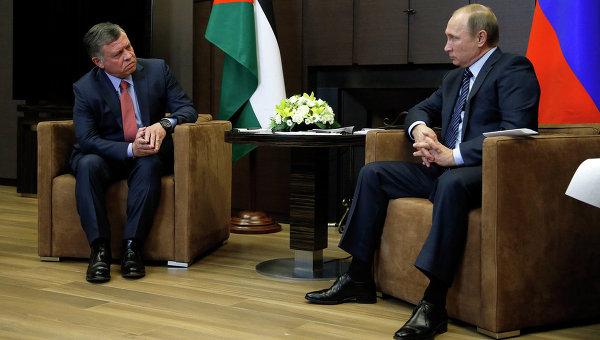 Президент России Владимир Путин во время встречи с королём Иордании Абдаллой II. Архивное фото