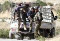 Вооруженные сирийские туркмены недалеко от сирийско-турекой границы