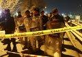 Полиция на месте взрыва возле станции метро Стамбула