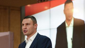 Лидер объединенной партии Солидарность, мэр Киева Виталий Кличко